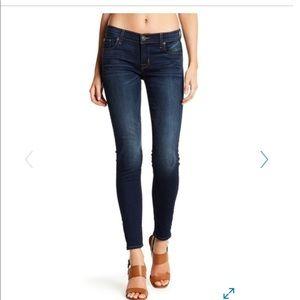 Hudson Dark Wash Straight Legged Jeans